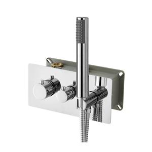 SAPHO RHAPSODY podomítková sprchová termostatická baterie vč. sprchy, 2 výstupy, chrom 5509