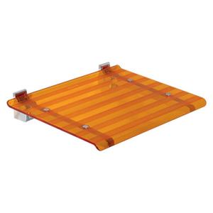 Sapho sprchové sedátko oranžová 40 x 31 cm 5368A