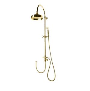 SAPHO VANITY sprchový sloup k napojení na baterii, retro, zlato SET065