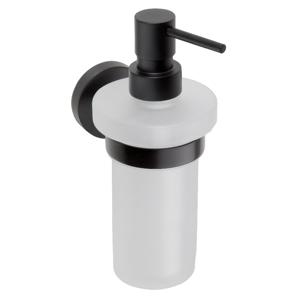 SAPHO X-ROUND BLACK dávkovač mýdla, mléčné sklo, 250ml, černá XB100