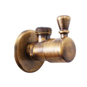 SLEZAK-RAV Rohový ventil s keramickým vrškem stará mosaz, Barva: stará mosaz, Rozměr: 1/2''x1/2'' ROH001SM