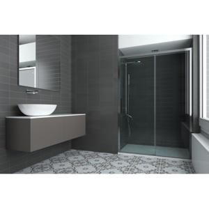 Sprchové dveře HOPA URBAN ESSENCE N1FS 145,5 150 cm, 200 cm, Pravé (DX), Ossidato matný hliník, Čiré bezpečnostní sklo 6 mm BEN15DXA1