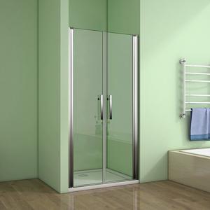 H K Sprchové dveře MELODY D2 100 dvoukřídlé 96-100 x 195 cm, výplň sklo čiré SE- MELODYD2100-06