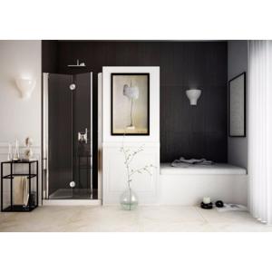 Sprchové dveře SPACEDUE 80 83 cm, 190 cm, Levé (SX), Leštěný hliník, Čiré bezpečnostní sklo 6 mm BQSP515SXC