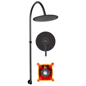 Sprchový set podomítkový + BOX Rea LUGANO černý 4194