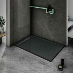 STACATO ETERMY sprchová vanička z litého mramoru, obdélník černá Rozměr obdélníku: 1400x900mm ETB914