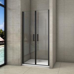STACATO MINEBLACK LINE otočné sprchové dveře dvoukřídlé 900mm SLB290