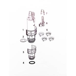 TECE kompletní vypouštěcí ventil A2 TC9.820.223 TC9.820.223
