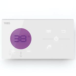 TRES Zapuštěné elektronické termostatické ovládání SHOWER TECHNOLOGY · Včetně elektronického o 09286399