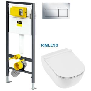 VIEGA Presvista modul DRY pro WC včetně tlačítka Life5 CHROM + WC JIKA MIO + SEDÁTKO SLIM V771973 LIFE5CR IO1