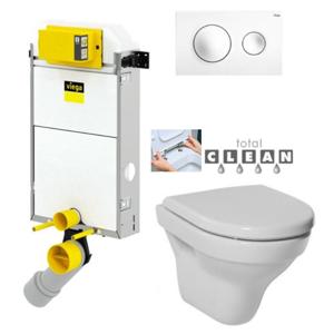 VIEGA Presvista modul PURE pro WC včetně tlačítka Style 20 bílé + WC JIKA TIGO + SEDÁTKO DURAPLAST RYCHLOUPÍNACÍ V771928 STYLE20BI TI1