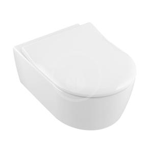 VILLEROY & BOCH Avento Závěsné WC se sedátkem SoftClosing, DirectFlush, alpská bílá 5656RS01