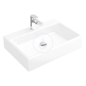 VILLEROY & BOCH Memento Umyvadlo na desku, 600 mm x 420 mm, bílé jednootvorové umyvadlo, bez přepadu 51356101