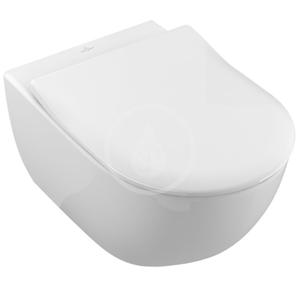 VILLEROY & BOCH Subway 2.0 Závěsné WC se sedátkem SoftClosing, DirectFlush, CeramicPlus, alpská bílá 5614R2R1