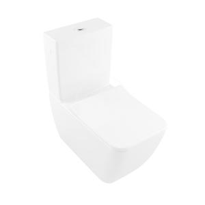 VILLEROY & BOCH Venticello WC kombi mísa, Vario odpad, DirectFlush, CeramicPlus, alpská bílá 4612R0R1