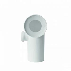 WC koleno přip. bílé 90st s přípojkou DN 50 vlevo Plast Brno KK95L00 KK95L00